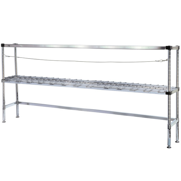 "Metro 2KR366MC Six Keg Rack with One Dunnage Rack - 60"" x 18"" x 64 1/8"""
