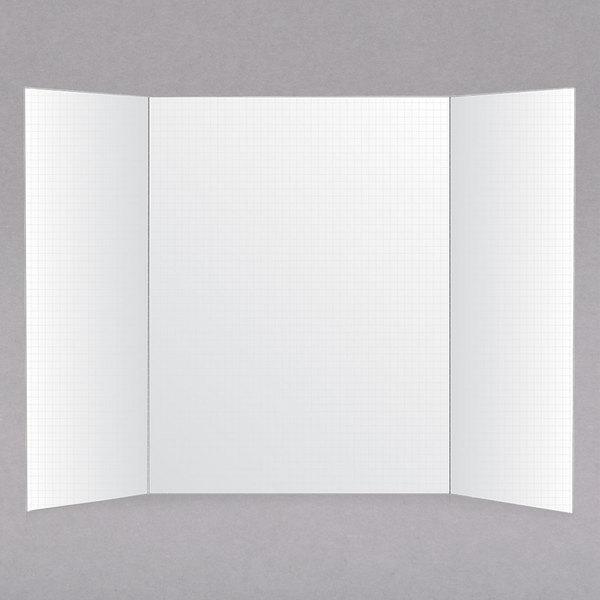 """Royal Brites 26881 22"""" x 28"""" White Tri-Fold Foam Board with Gridlines"""