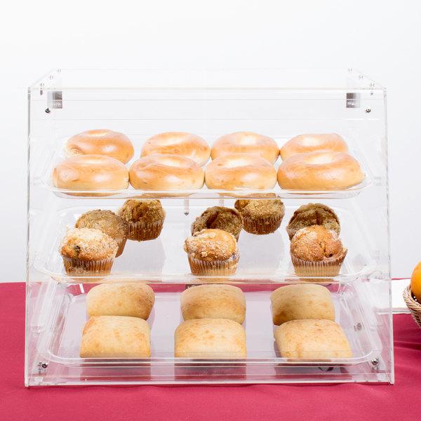 3 Tray Bakery Display Case with Rear Doors