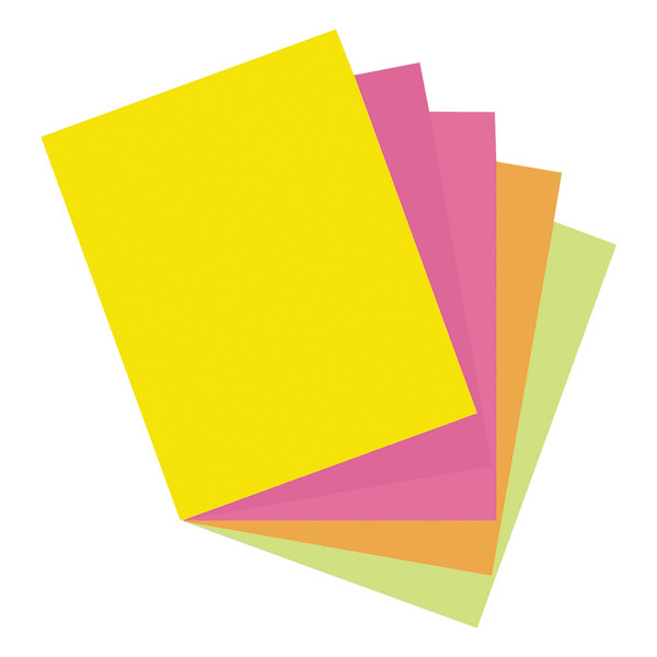 """Pacon 101161 8 1/2"""" x 11"""" Array 65# Assorted Hyper Color Cardstock - 50 Sheets"""