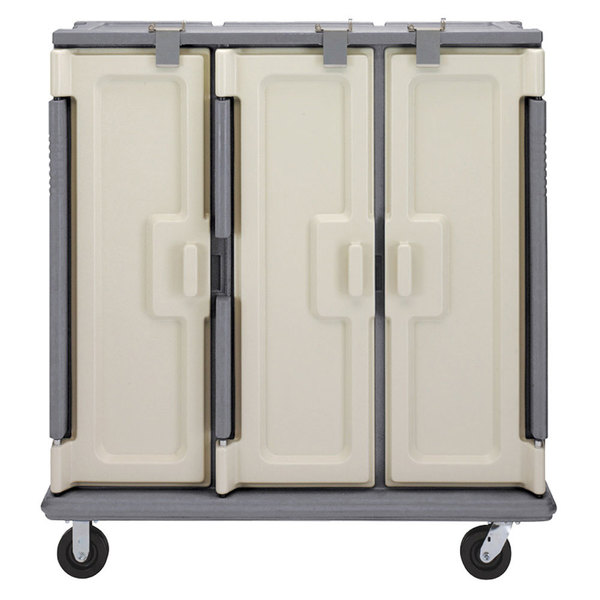 Cambro MDC1520T30191 Granite Gray 3 Compartment Meal Delivery Cart 30 Tray Main Image 1