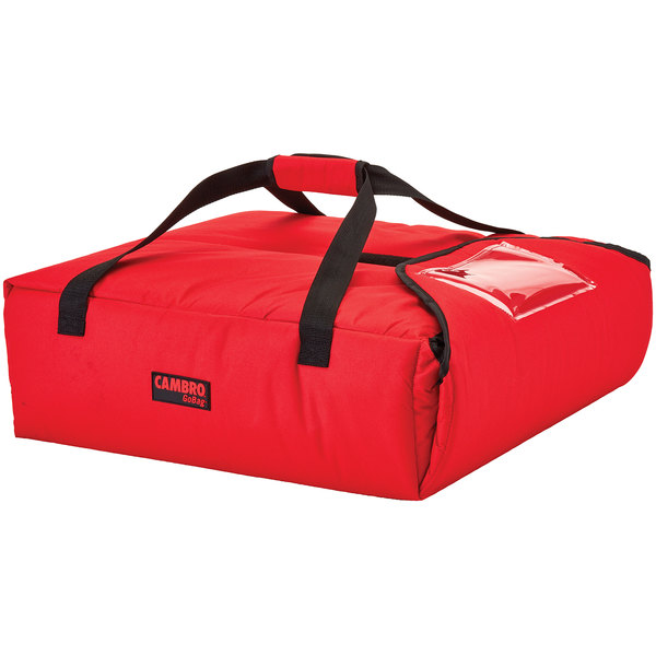 "Cambro GBPP212521 Insulated Red Premium Pizza Delivery GoBag™ - Holds up to (2) 12"" Pizza Boxes"