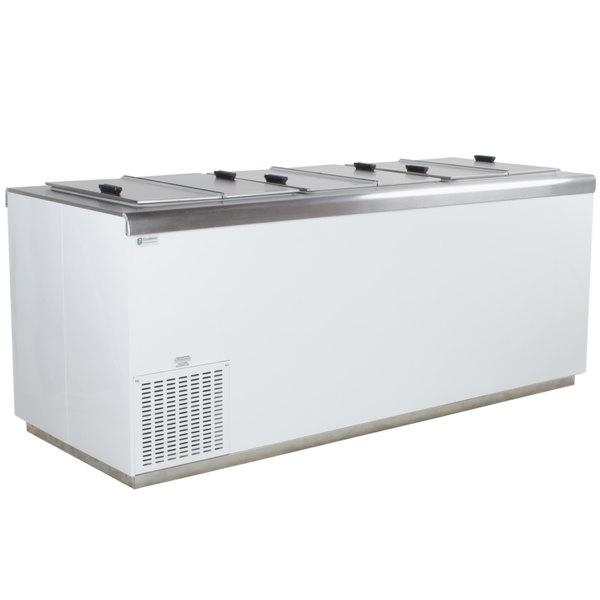 Excellence HFF-12HC 81 inch Flip Lid Ice Cream Dipping Cabinet