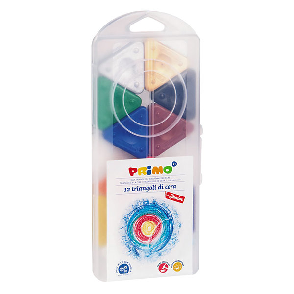 Stride 0731TR Primo 12 Pack Assorted Color Triangle Crayons Main Image 1