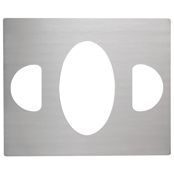 Vollrath 8250414 Miramar Stainless Steel Double Well Adapter Plate for Large Oval Pan and Two Half Oval Pans