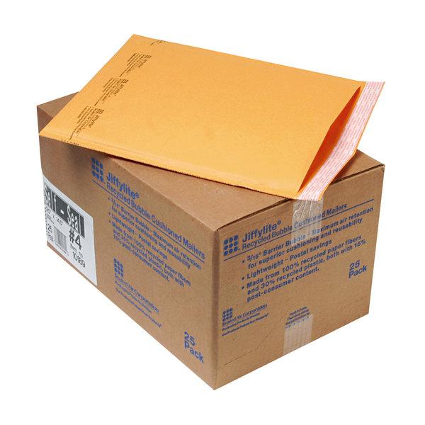 """Jiffylite 10189 14 1/2"""" x 9 1/2"""" Self Seal #4 Kraft Mailer - 25/Case Main Image 1"""