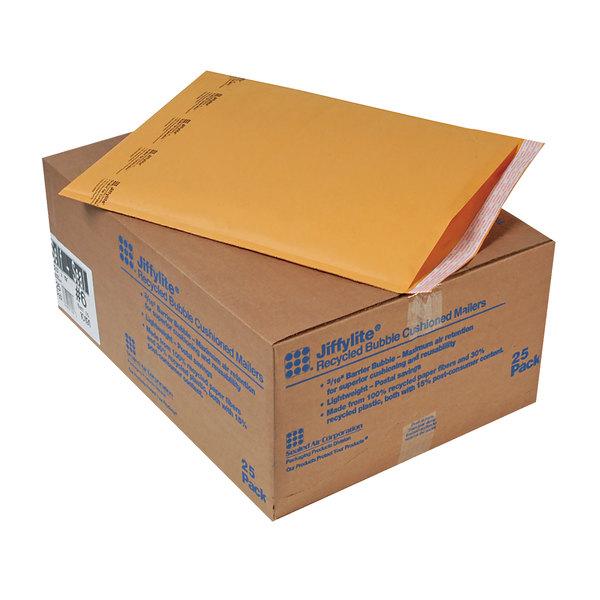 """Jiffylite 10191 19"""" x 12 1/2"""" Self Seal #6 Kraft Mailer - 25/Case Main Image 1"""
