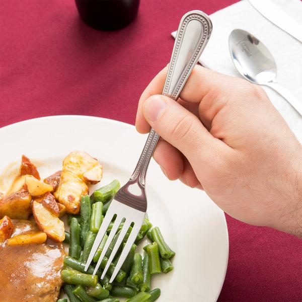 Belmore Pearl Flatware Stainless Steel Dinner Fork - 12/Case