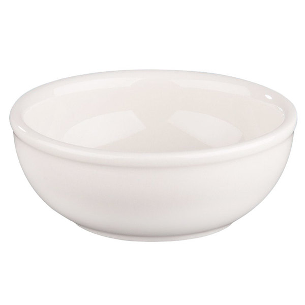 Homer Laughlin 19500 14 oz. Ivory (American White) Rolled Edge China Nappie Bowl - 36/Case