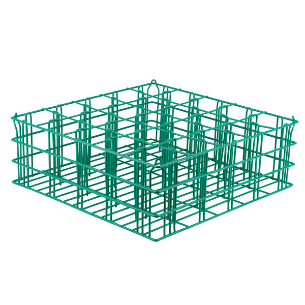 """25 Compartment Catering Glassware Basket 3 1/2"""" x 3 1/2"""" x 8"""" Compartments Main Image 1"""
