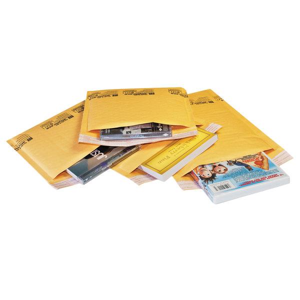 """Jiffylite 55445 10"""" x 6"""" Self Seal #0 Kraft Mailer - 200/Case Main Image 1"""