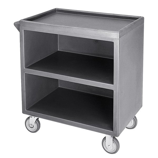 "Cambro BC330191 Granite Gray Three Shelf Service Cart with Three Enclosed Sides - 33 1/8"" x 20"" x 34 5/8"" Main Image 1"