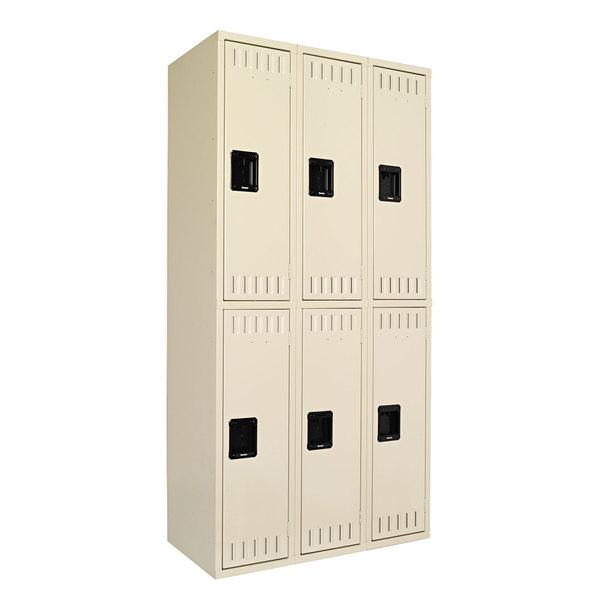 """Tennsco DTS121836CSD Triple Stack Double Tier Sand Steel Locker - 36"""" x 18"""""""