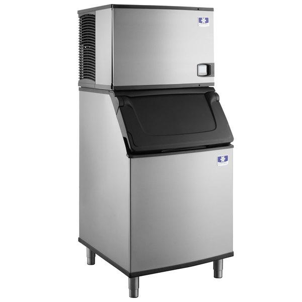 "Manitowoc IY-0606A Indigo 30"" Air Cooled Half Dice Ice Machine with Bin - 208-230V, 635 lb. Main Image 1"