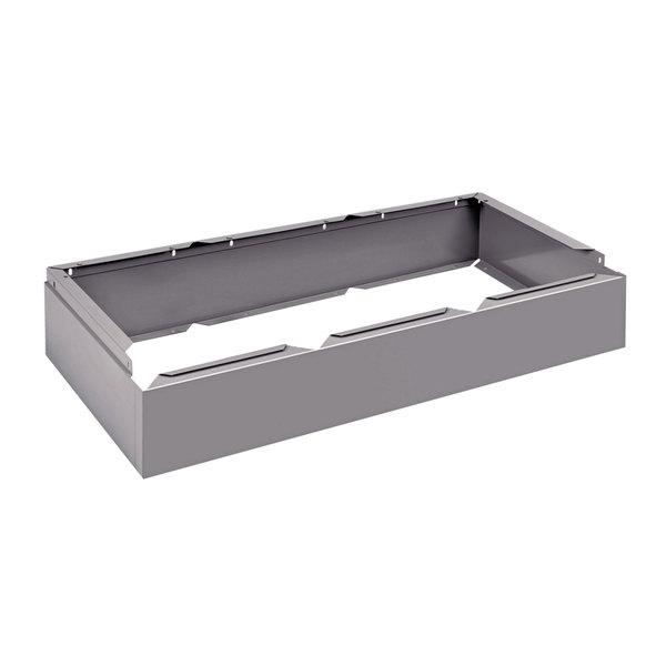 "Tennsco CLB3618MG Triple Stack Gray Steel Locker Base - 36"" x 18"""
