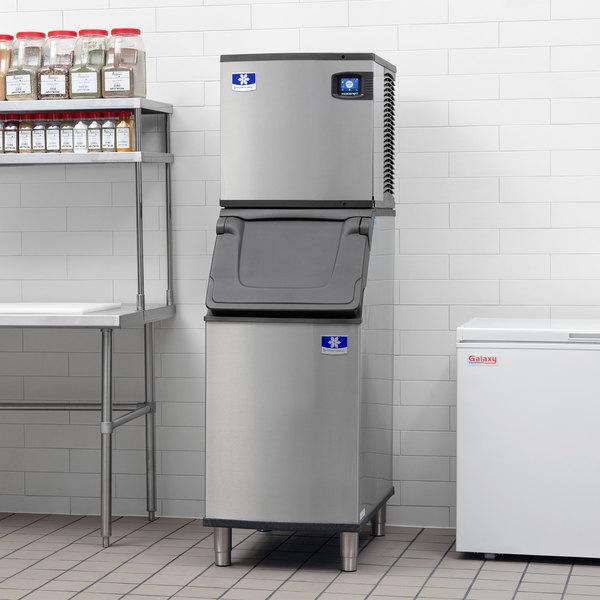 "Manitowoc IYT0420A Indigo NXT 22"" Air Cooled Half Dice Ice Machine with D420 Ice Bin - 115V, 460 lb."