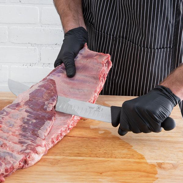 "Mercer Culinary M13612 BPX 12"" Granton Edge Cimeter Knife with Nylon Handle Main Image 2"