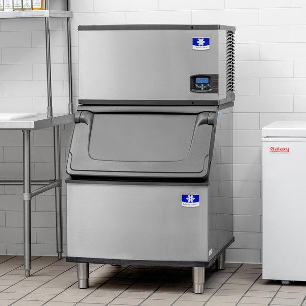 "Manitowoc IY-0304A Indigo 30"" Air Cooled Half Dice Ice Machine with Bin - 115V, 310 lb. Main Image 5"
