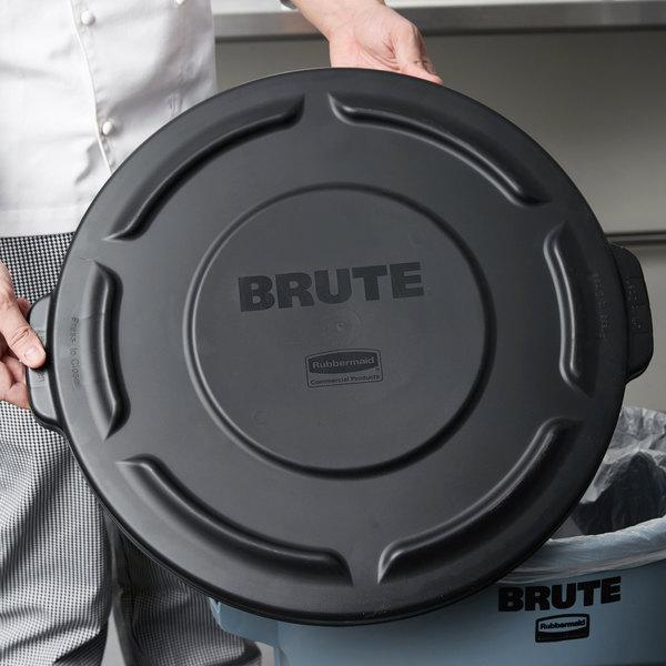 rubbermaid fg261960bla brute black 20 gallon trash can lid