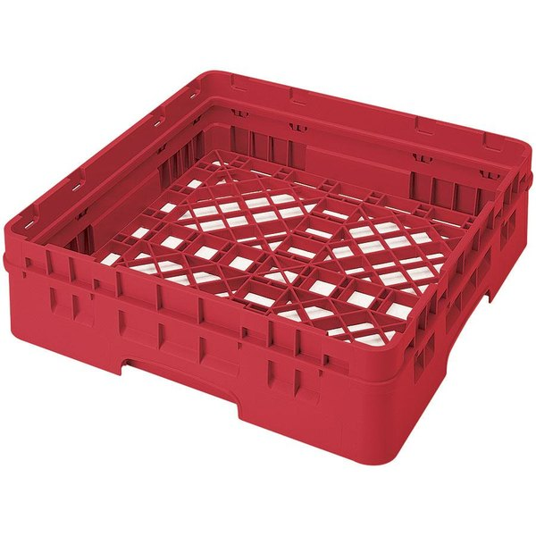 Cambro BR414163 Red Camrack Full Size Open Base Rack with 1 Extender Main Image 1
