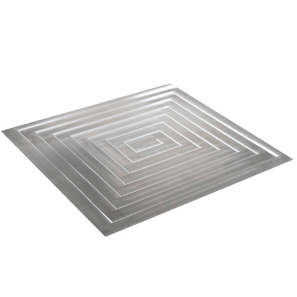 Bon Chef 52104 E-Z Fit Rectangle Stainless Steel Double-Size Tile