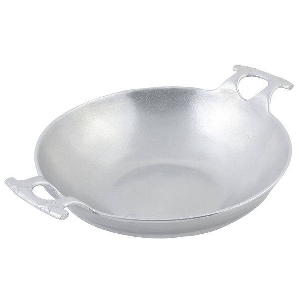 Bon Chef 6051P 8 Qt. Pewter-Glo Wok with Handles