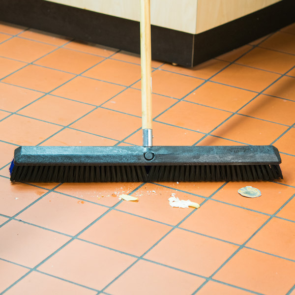 "Carlisle 4188100 Sparta Spectrum Omni Sweep 24"" Push Broom Head with Black and Blue Unflagged Bristles Main Image 4"