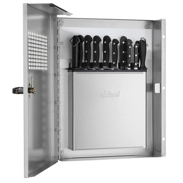Edlund KLC-994 Locking Knife Cabinet with Integrated KR-699 Knife Rack