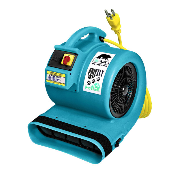 Grizzly GP-1 Grizzly Turquoise 3-Speed Air Mover - 1 hp
