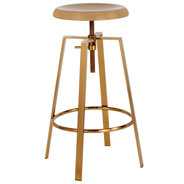 Flash Furniture Ch 181070 26s Gld Gg Toledo Style Gold Bar Stool With Adjule Height Seat