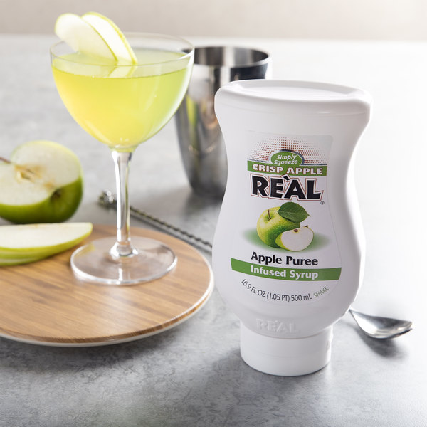 Real 16.9 fl. oz. Apple Puree Infused Syrup