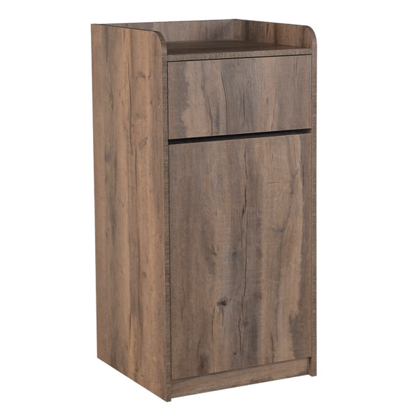 Updating Knotty Pine Kitchen Cabinets: BFM Seating TE4622KP 35 Gallon Knotty Pine Waste Can Enclosure