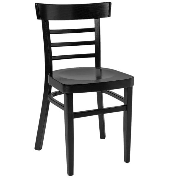 BFM Seating ZWC66BL-BL Giulia Black Stain Beechwood Side Chair Main Image 1