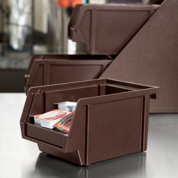 """Vollrath 4804-01 Traex® Brown Self-Serve 8"""" Condiment Bin"""