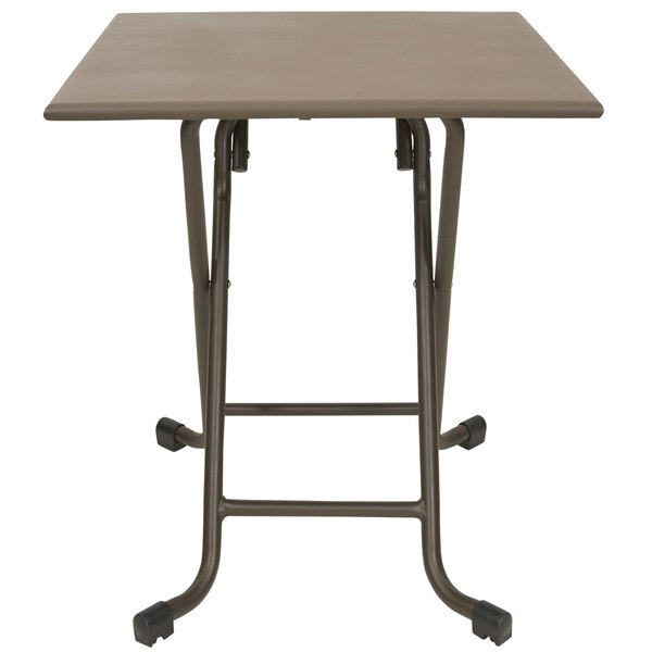 """BFM Seating MSG2828FBZ 28"""" Groove Square Bronze Aluminum Folding Table"""