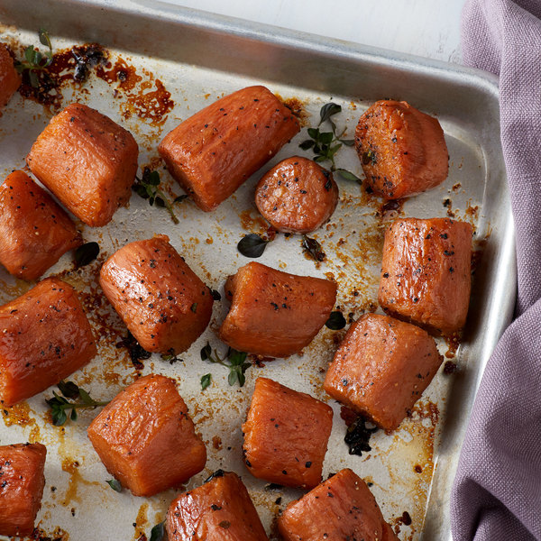 Bruce's #10 Can Whole Sweet Potatoes in Heavy Syrup - 6/Case Main Image 2
