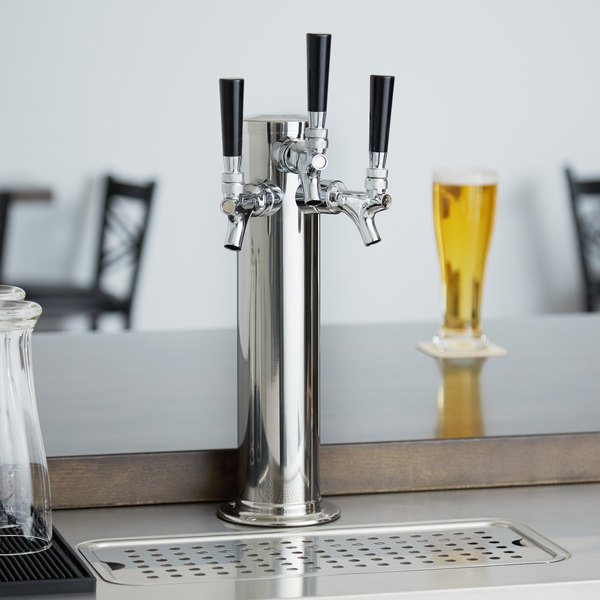 "Avantco 178TOWERTRP 3 Tap Beer Tower - 3"" Column"