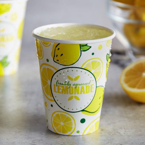 Carnival King 12 oz. Poly Paper Lemonade Cup - 1000/Case Main Image 2