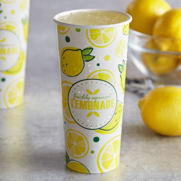 Carnival King 22 oz. Poly Paper Lemonade Cup - 1000/Case Main Image 2