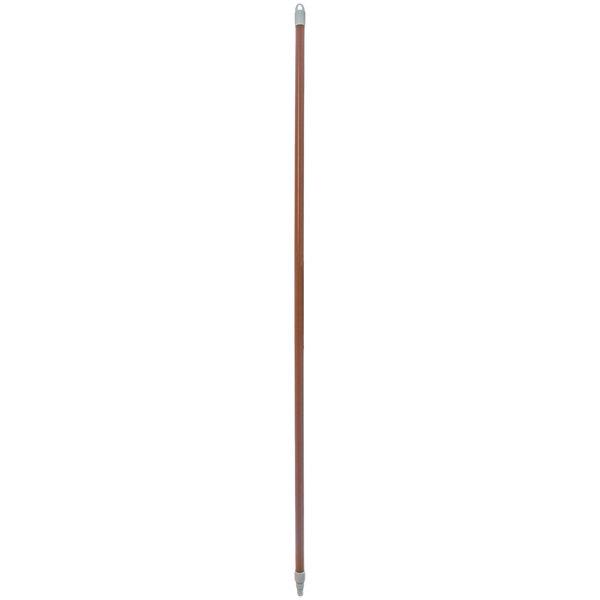 "Carlisle 4022501 Sparta Spectrum 60"" Brown Threaded Fiberglass Broom / Squeegee Handle Main Image 1"