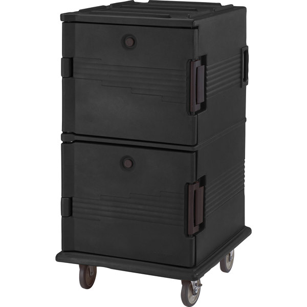 Cambro UPC1600SP110 Black Camcart Ultra Pan Carrier - Front Load Tamper Resistant
