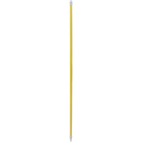 "Carlisle 4022504 Sparta Spectrum 60"" Yellow Threaded Fiberglass Broom / Squeegee Handle Main Image 1"