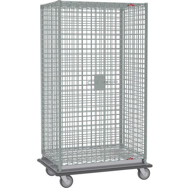 "Metro SEC55LCQ Heavy Duty QwikSLOT Mobile Standard Duty Wire Security Cabinet 53"" x 27"" x 68"""