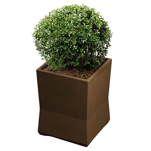 "Commercial Zone 724265 ModTec 15"" x 15"" Old Bronze Small Square Planter Main Image 1"