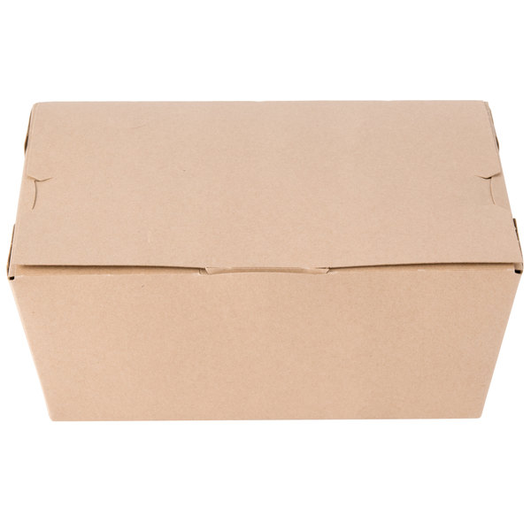Southern Champion 0734 ChampPak Classic Microwavable Paper #4 Take Out Box 7 3/4 inch x 5 1/2 inch x 3 1/2 inch - 40/Pack
