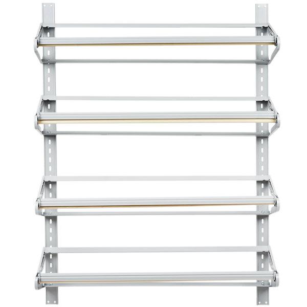 "Bulman T293-36 36"" Horizontal Four Paper Roll Wall Rack"