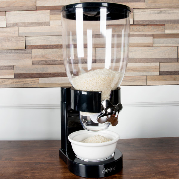 Zevro KCH-06114 Black Single Canister Dry Food Dispenser
