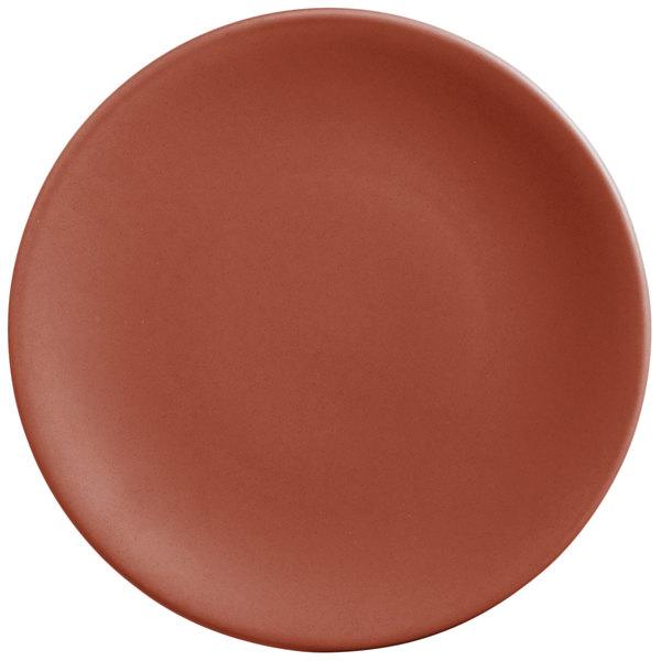 "World Tableware DRI-2-C Driftstone 9"" Clay Satin Matte Porcelain Coupe Plate - 12/Case"