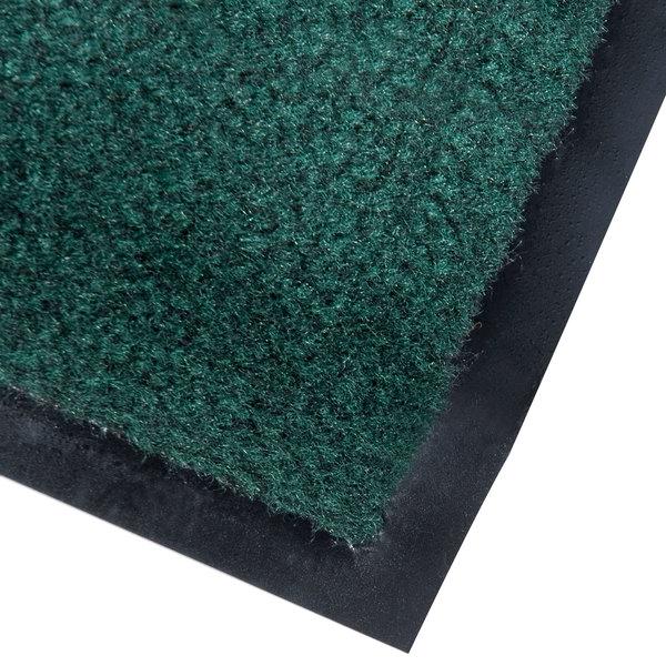 """Cactus Mat 1437M-G31 Catalina Standard-Duty 3' x 10' Green Olefin Carpet Entrance Floor Mat - 5/16"""" Thick"""