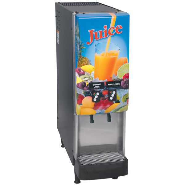 Bunn 37900.0016 JDF-2S 2 Flavor Cold Beverage Juice Dispenser with Portion Control and Lit Door Main Image 1